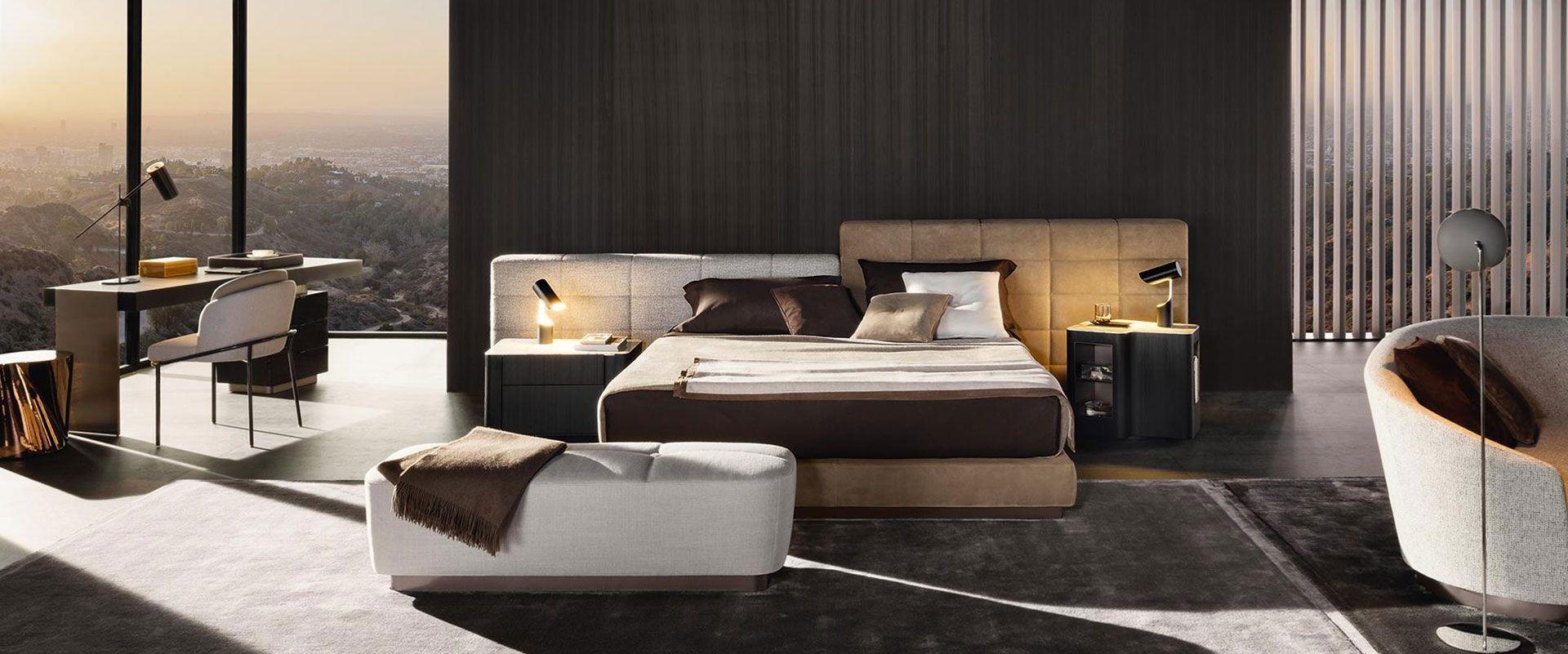Designer Schlafzimmer, Minotti Lawrence Bett