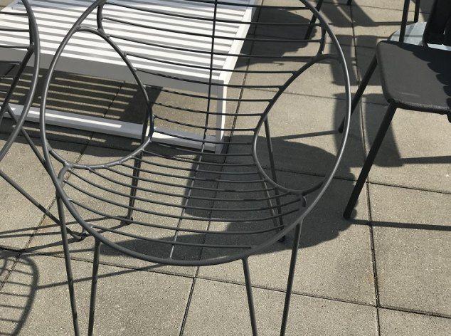 2x Outdoor-Stuhl Wire Weishäupl
