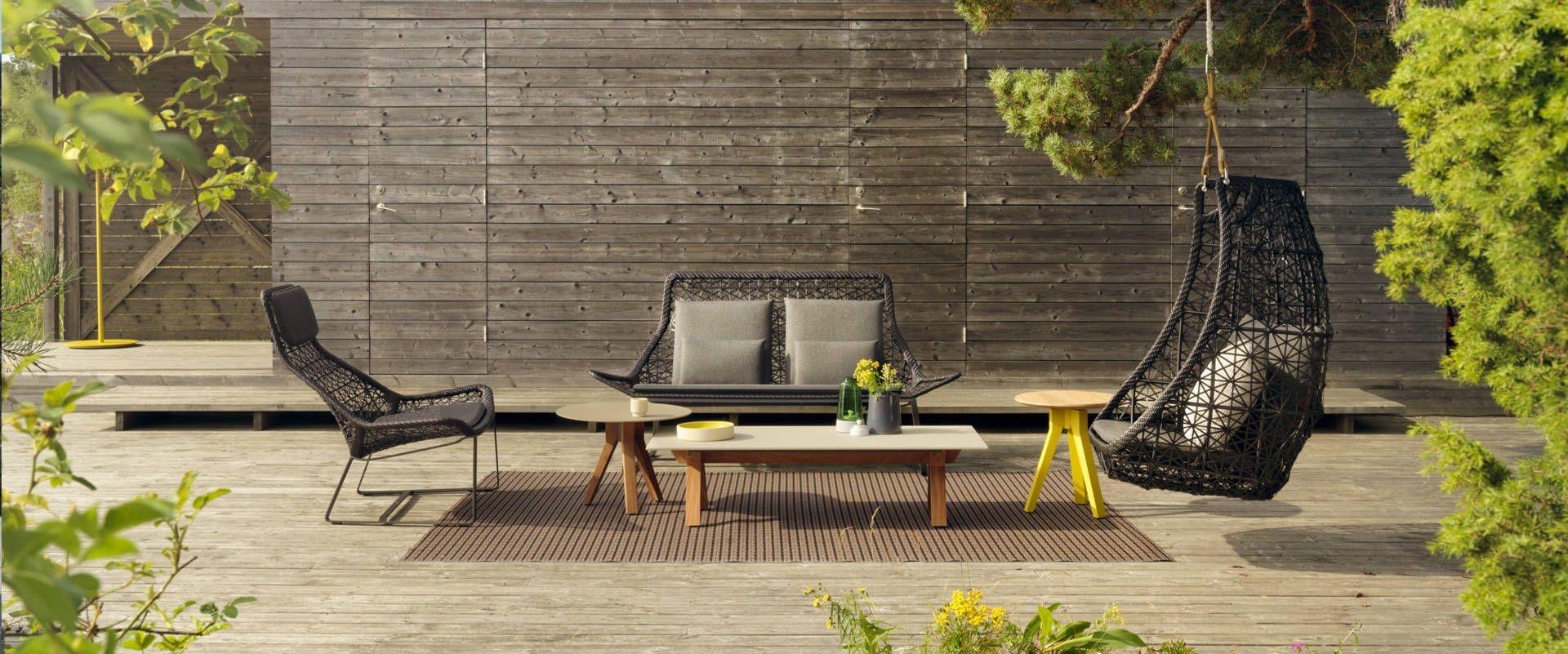 Outdoor Sofa mit Stuhl und Schaukel, Exklusive Outdoor Möbel, FRETZ Konstanz am Bodensee
