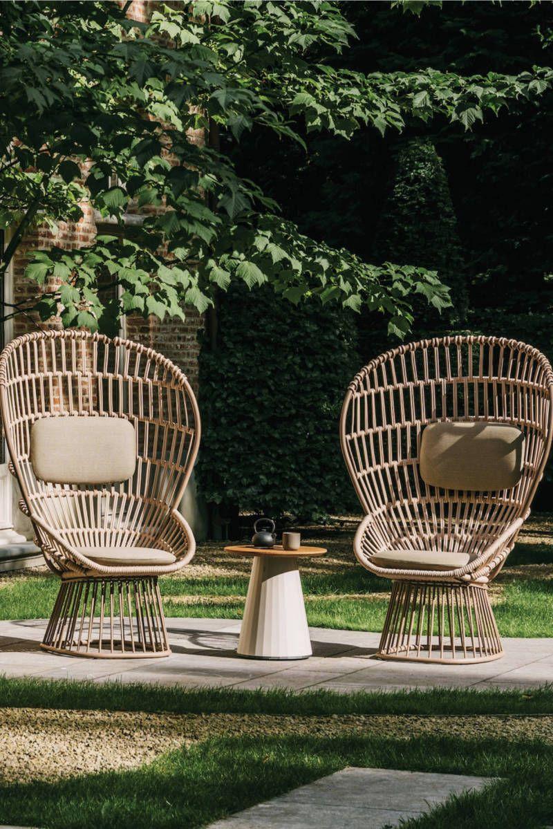 FRETZ, Exklusive Outdoor Möbel, Stühle aus Korbgeflecht