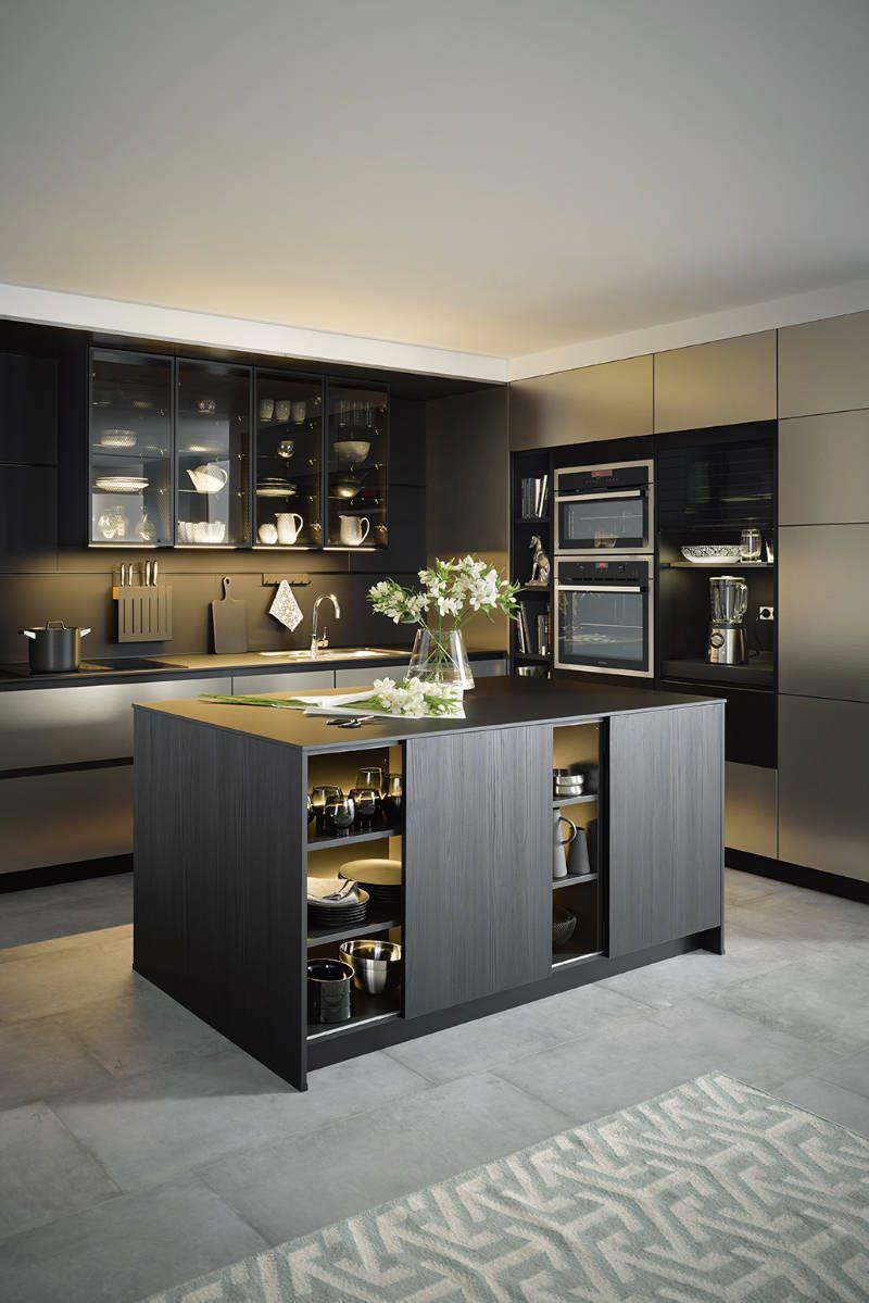FRETZ, Exklusive Küchen, Küche in grau