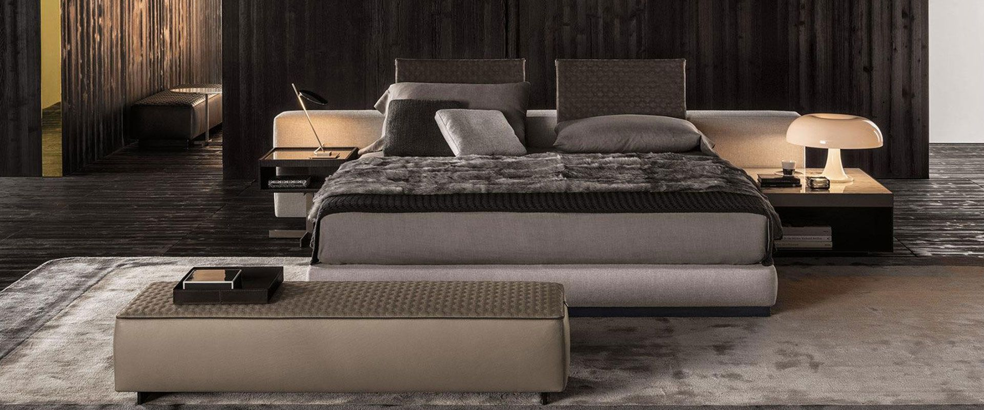 Designer Schlafzimmer, Minotti Yang Bett